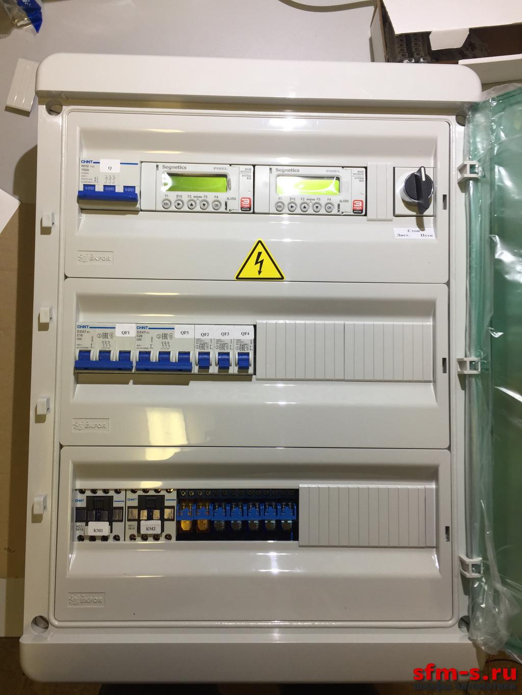 Щит управления приточной вентиляцией с электрическим нагревателем и фреоновым охладителем